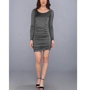 NWT Splendid metallic shirred dress